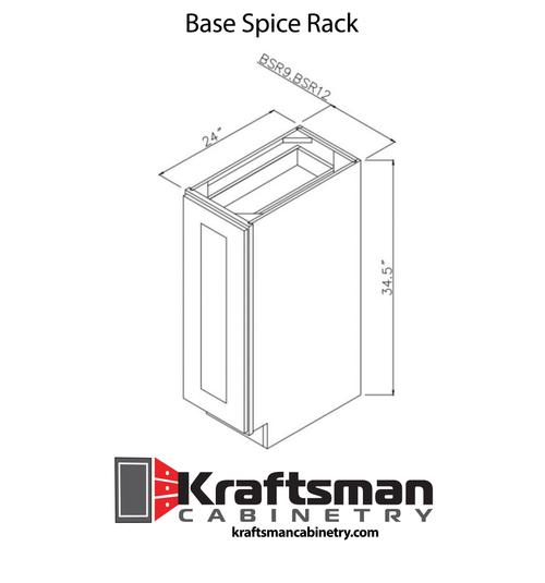 Base Spice Rack Summit Platinum Shaker Kraftsman Cabinetry