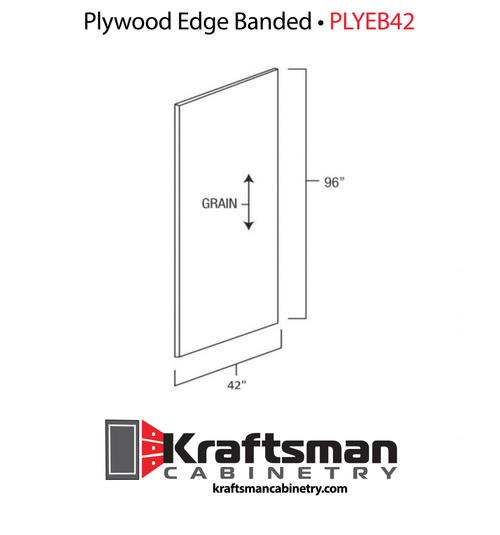 Plywood Edge Banded Winchester Grey Kraftsman Cabinetry