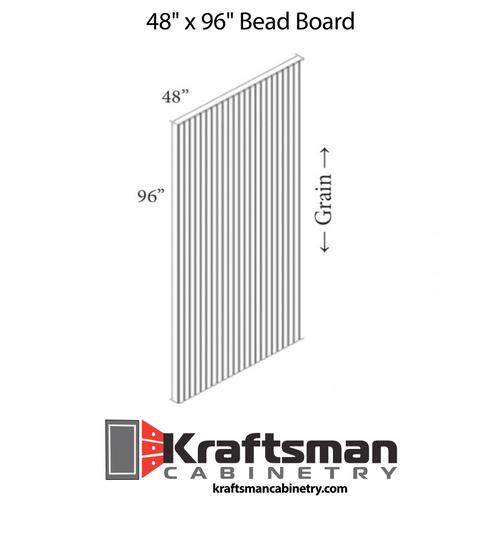 Bead Board Hickory Shaker Kraftsman Cabinetry