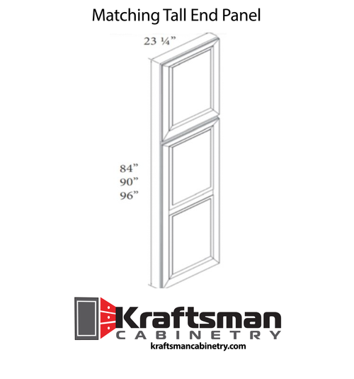 Matching Tall End Panel Hickory Shaker Kraftsman Cabinetry