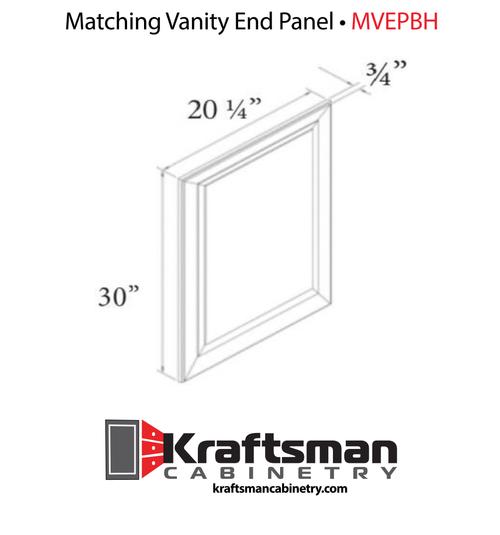 Matching Vanity End Panel Hickory Shaker Kraftsman Cabinetry