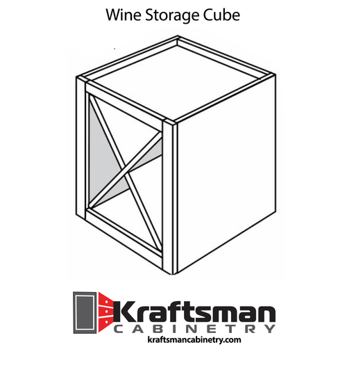 Wine Storage Cube Hickory Shaker Kraftsman Cabinetry