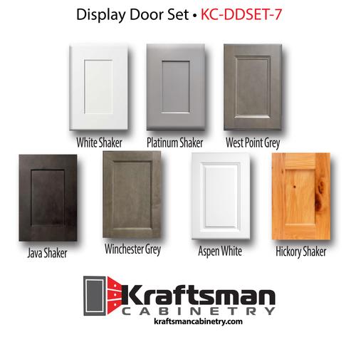 A set of seven Kraftsman Cabinetry Sample Display Doors
