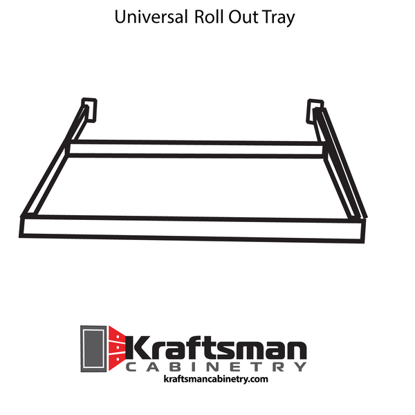 Universal Roll Out Tray Kraftsman Cabinetry