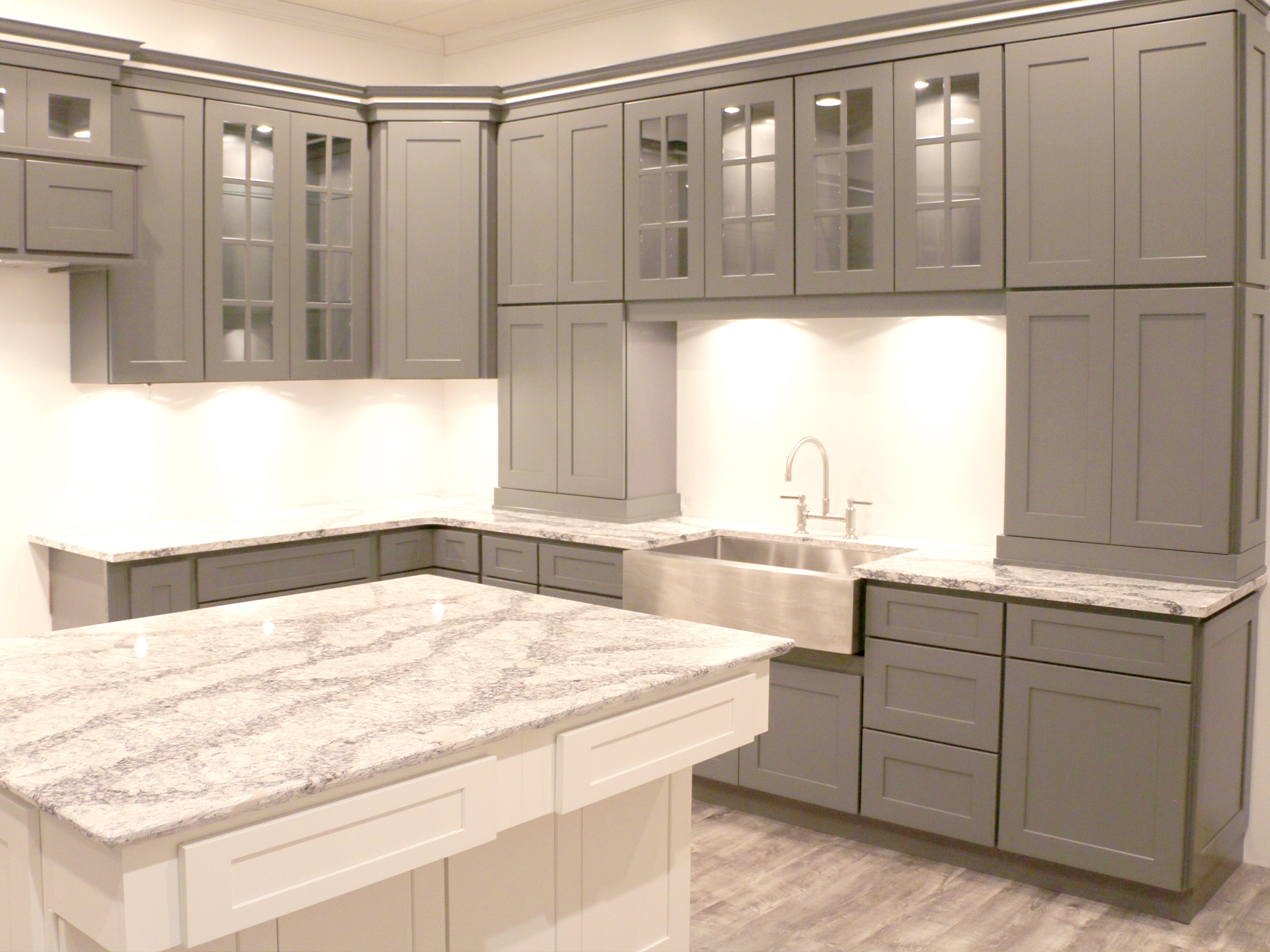 Summit Platinum Shaker RTA Kitchen Cabinets