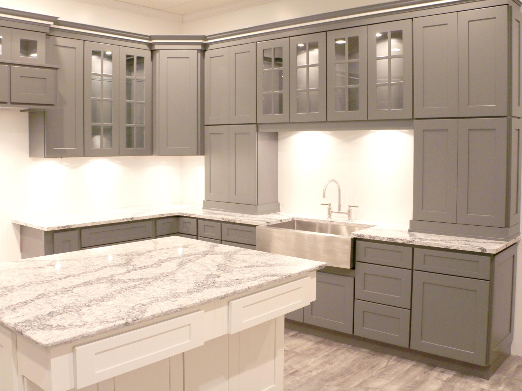 Summit Platinum Shaker RTA Kitchen Cabinets
