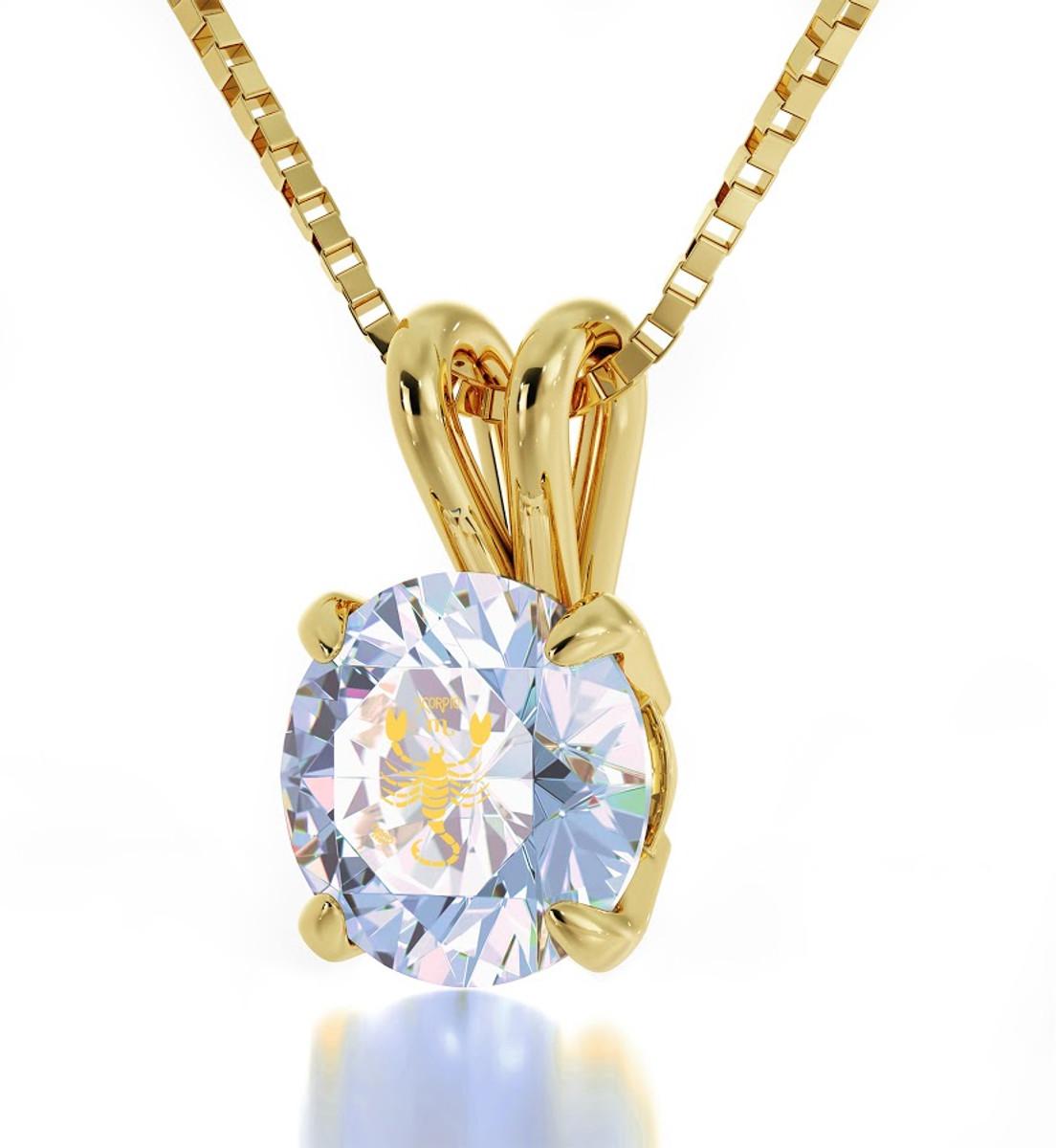 Inspirational Jewelry Necklace Gold Scorpio