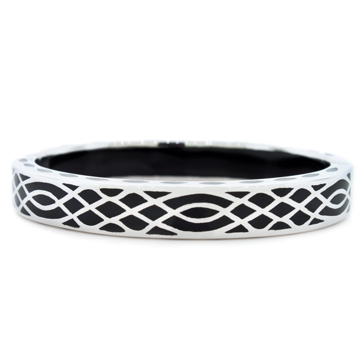 Andrew Hamilton Crawford Black Infinity Black and Silver Bracelet