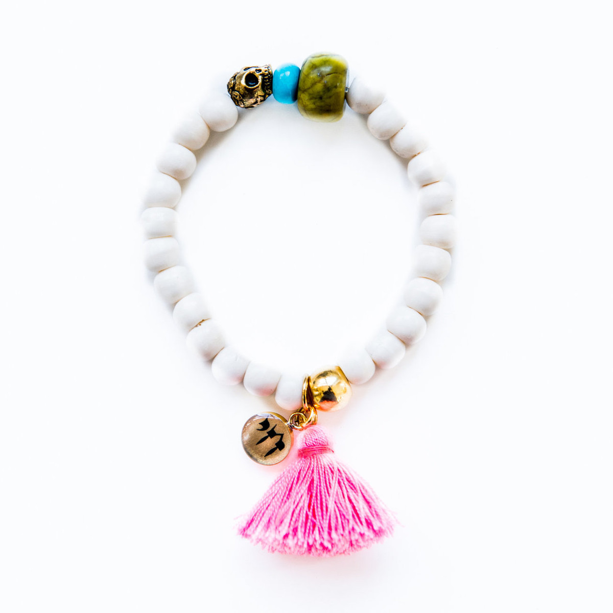 7Stitches Kabbalah Protection with Turquoise Tassel Bracelet