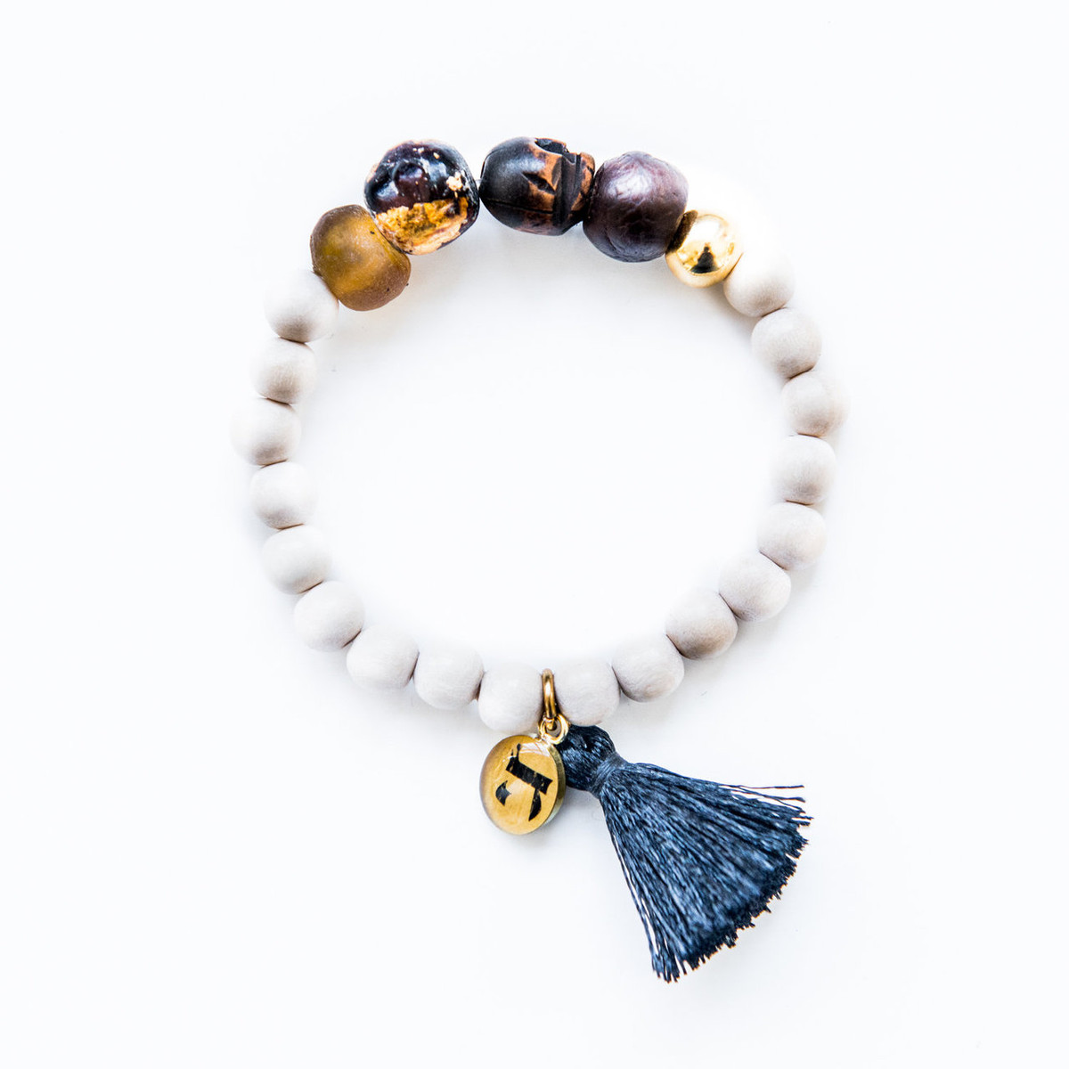 7Stitches Kabbalah Protection and Black Tassel Bracelet