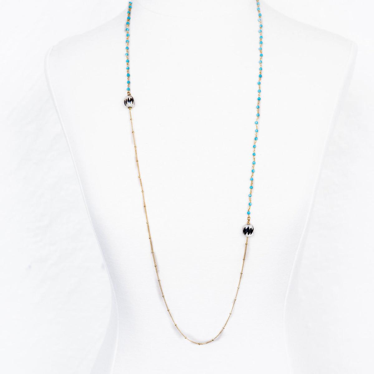 7Stitches Single strand Turquoise Necklace