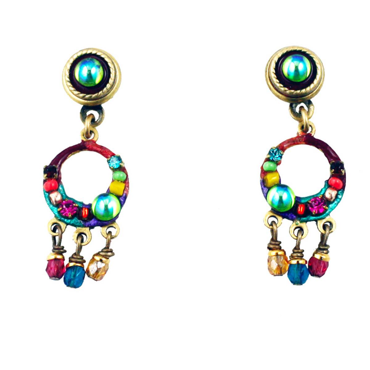 Michal Golan Earrings - Multibright petit hoop