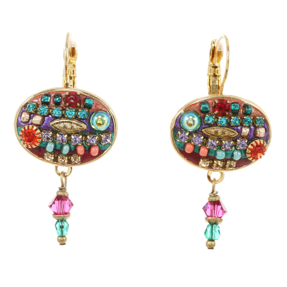 Michal Golan Earrings -Oval Multibright