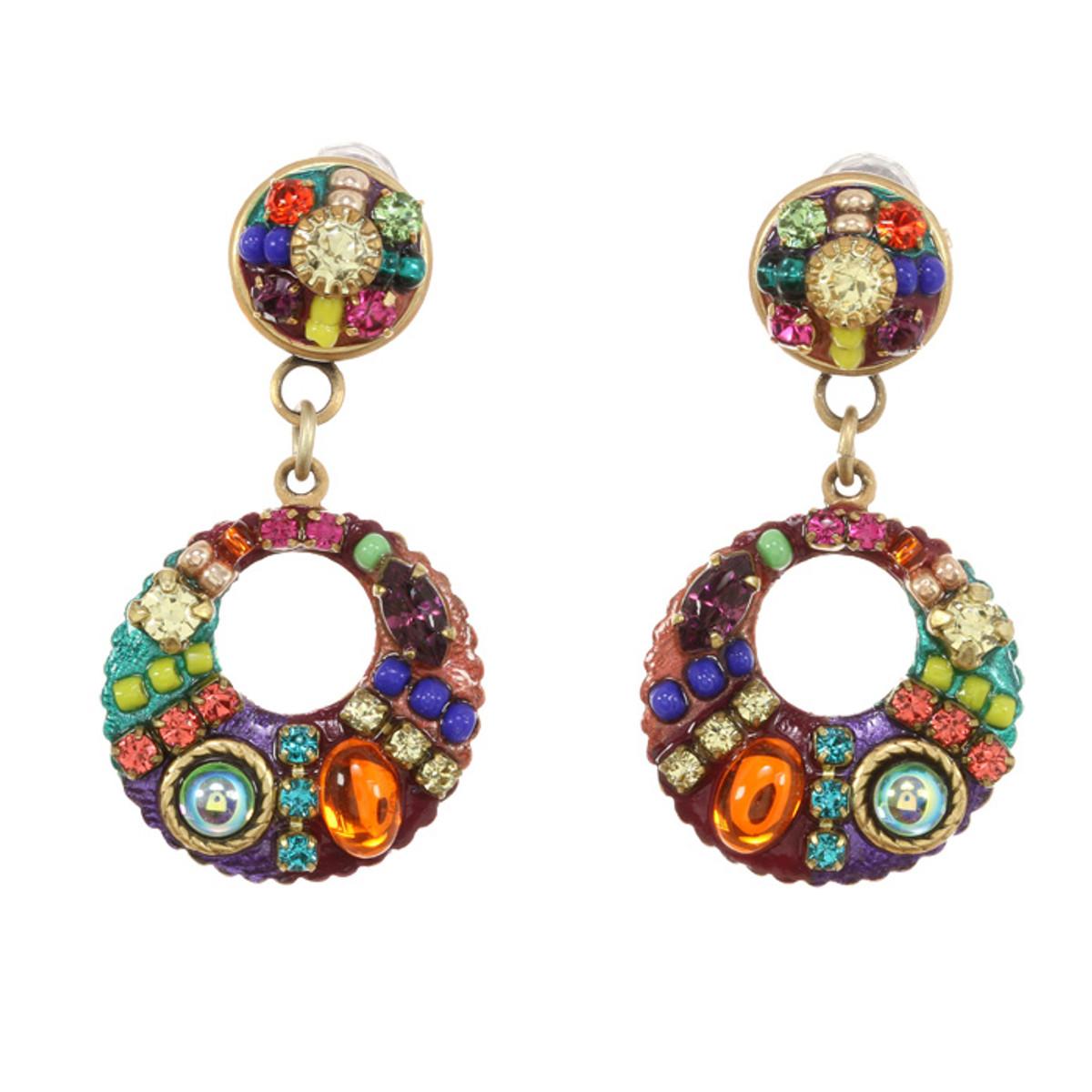Michal Golan Earrings -Multibright Dangling loop