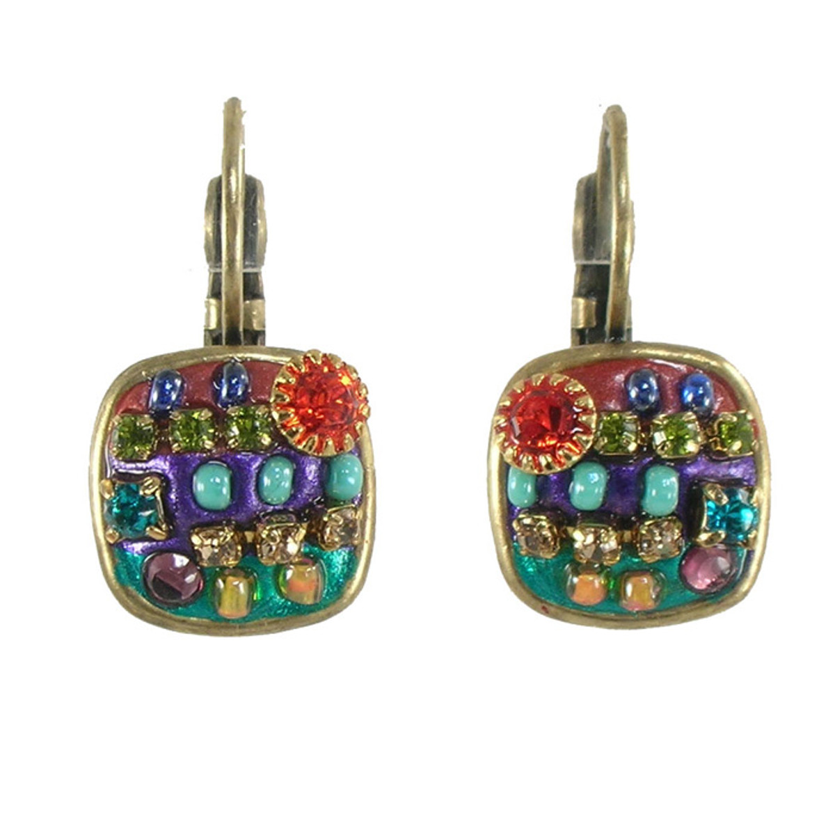 Michal Golan Multicolor round cornered Earrings