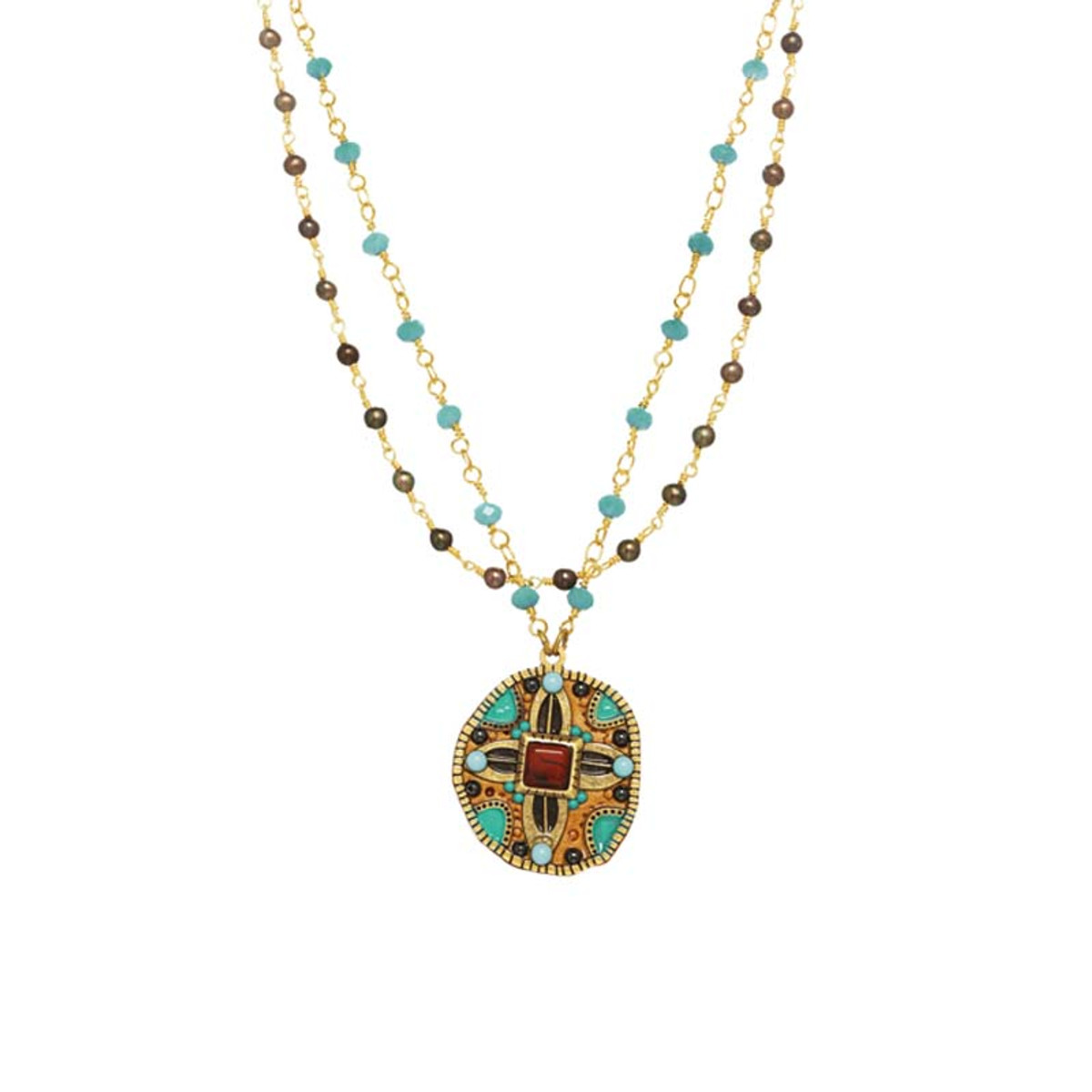 Michal Golan Jewelry Southwest Gold Necklace