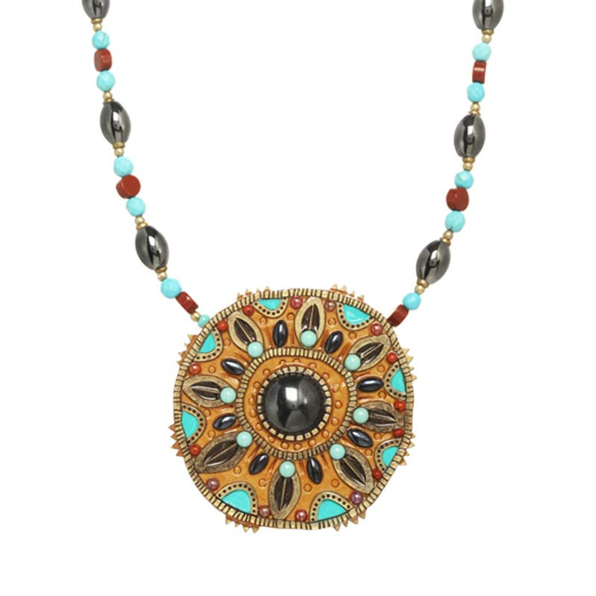 Gold Michal Golan Jewelry Southwest Necklace