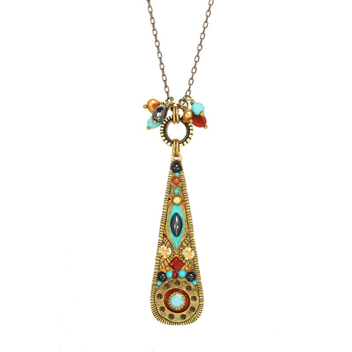 Gold Southwest necklace by Michal Golan Jewelry