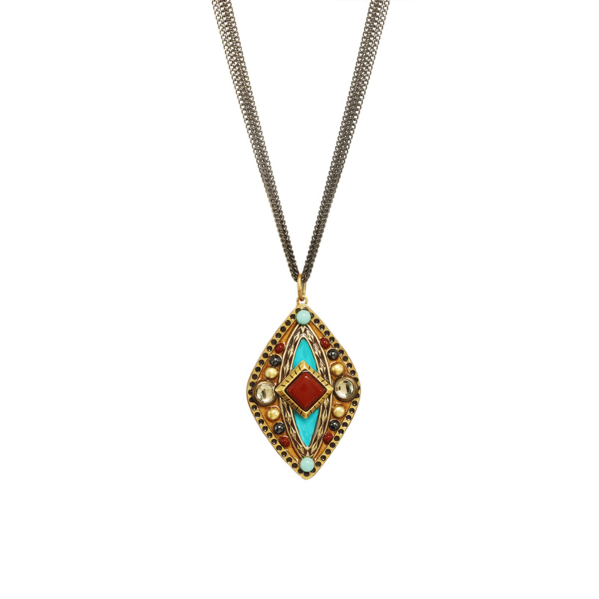 Gold Southwest style necklace by Michal Golan Jewelry