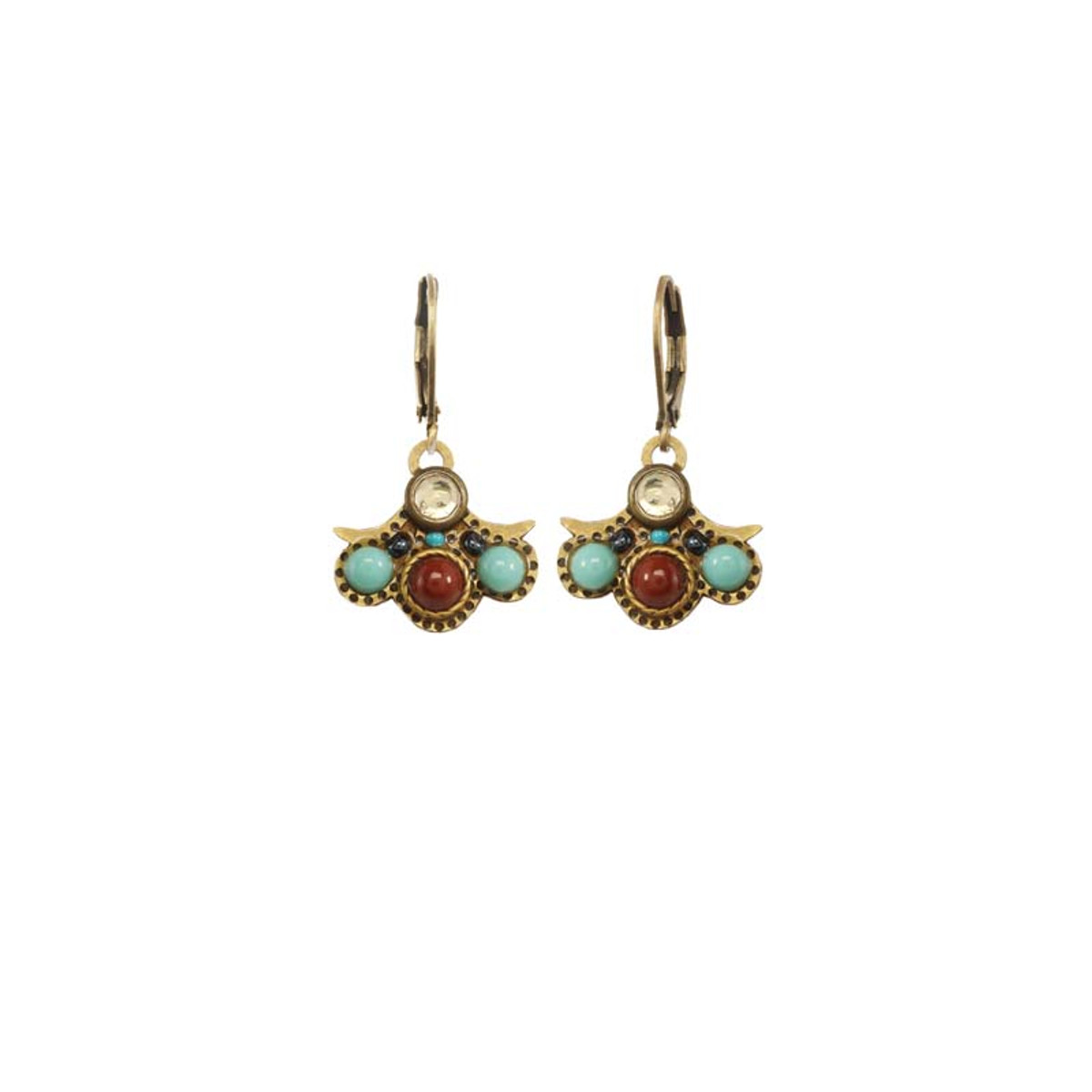 Gold Michal Golan Jewelry Southwest Style Earrings