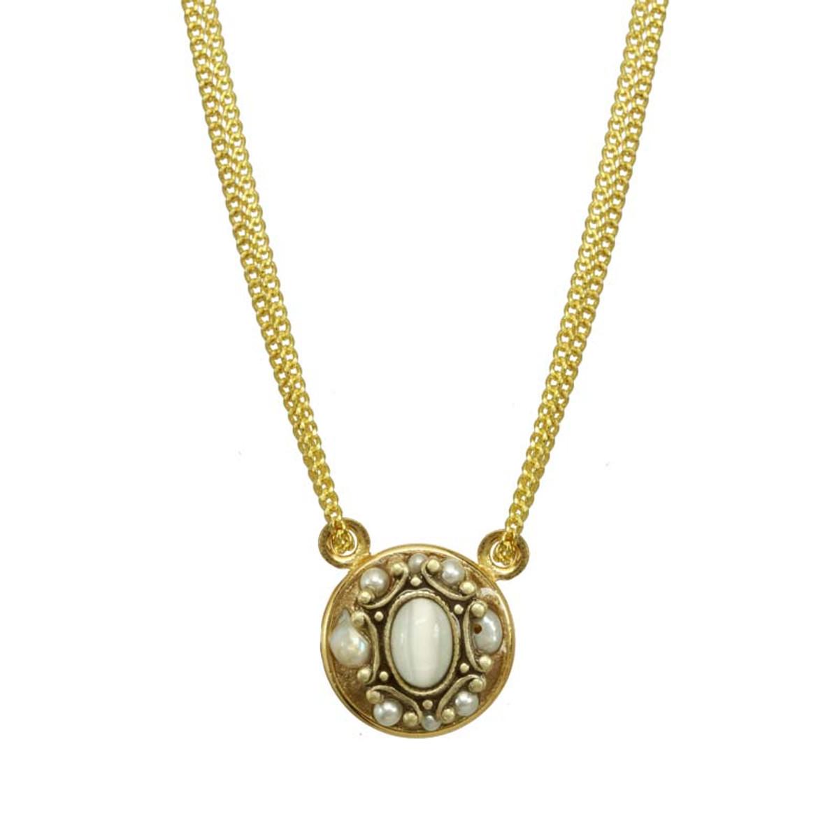 Michal Golan White Elegante Necklace