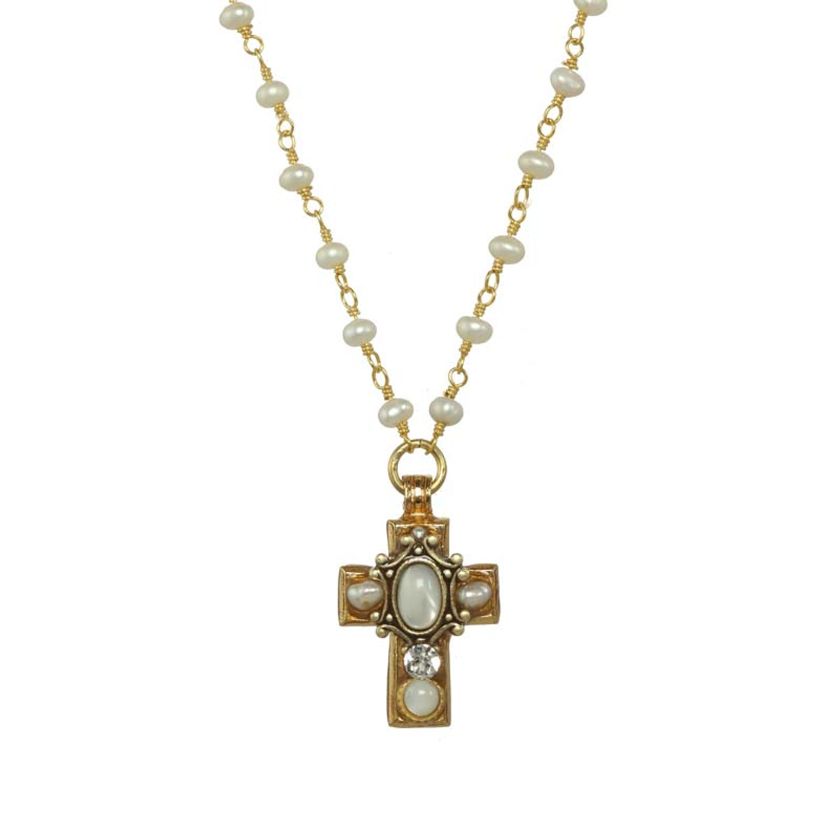 Michal Golan Jewelry Elegante White Necklace