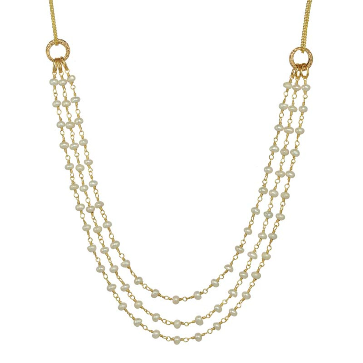 White Michal Golan Jewelry Elegante Style Necklace