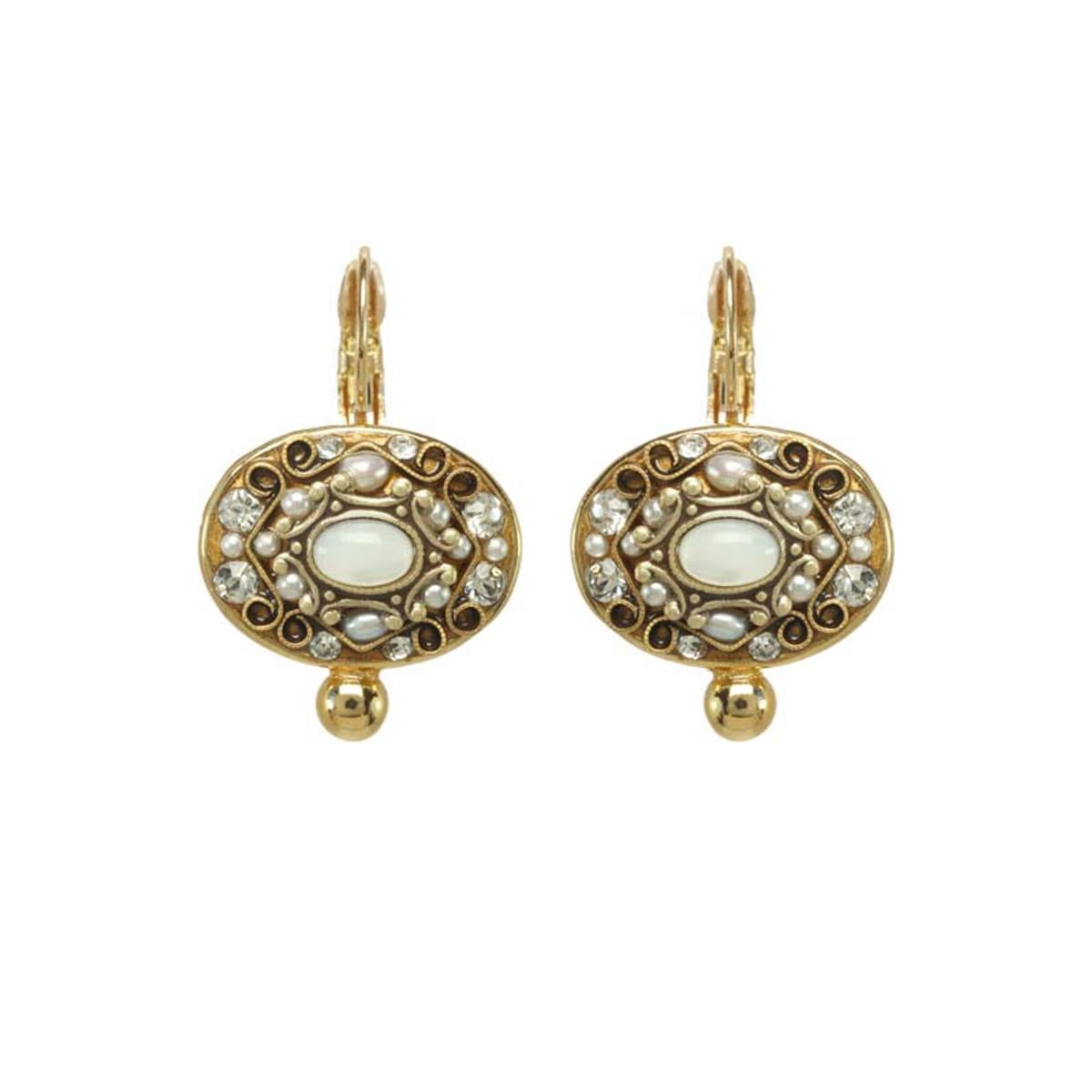 Michal Golan Elegante Earrings White