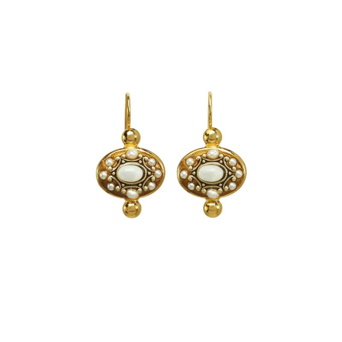 Michal Golan Jewelry Elegante White Earrings