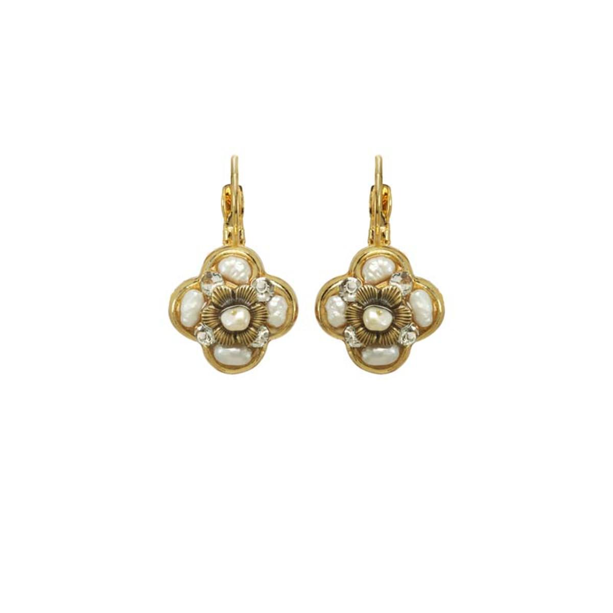 Michal Golan Jewellery Elegante White Earrings