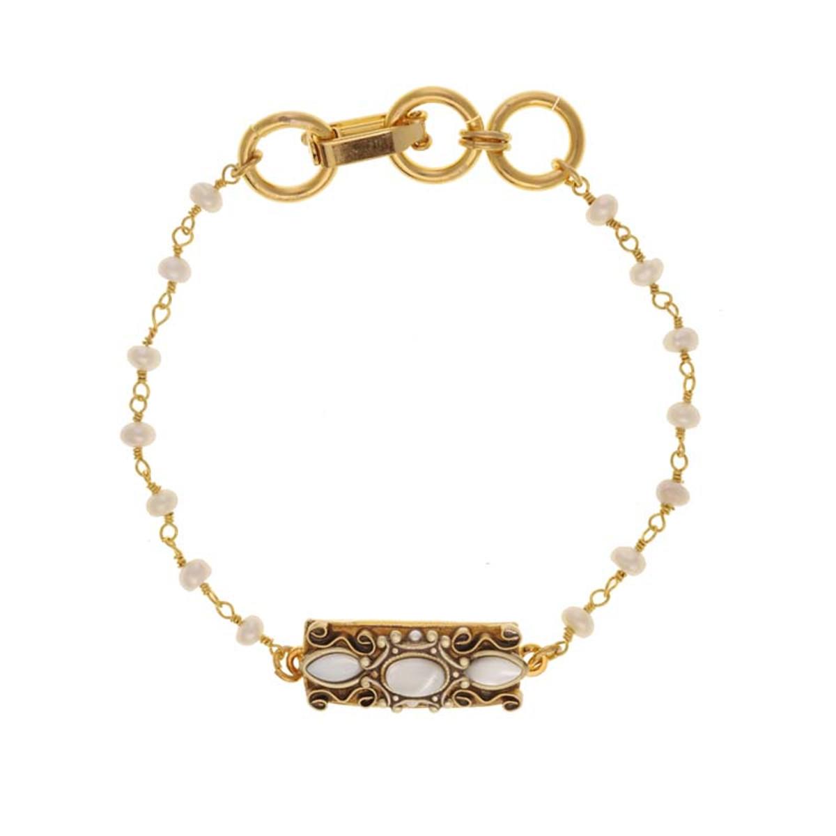 White Elegante bracelet by Michal Golan Jewelry