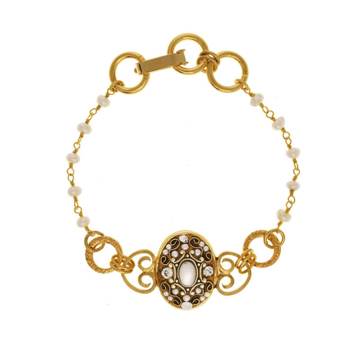 White Elegante style bracelet by Michal Golan Jewelry