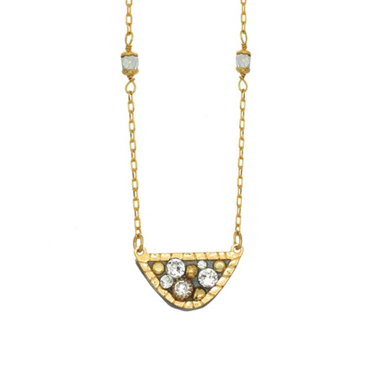 Gold Icicle necklaces from Michal Golan Jewelry
