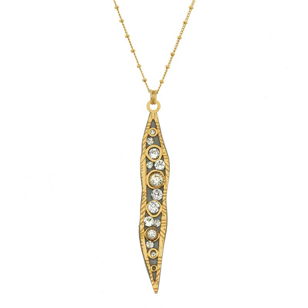Gold Icicle style necklaces by Michal Golan Jewelry