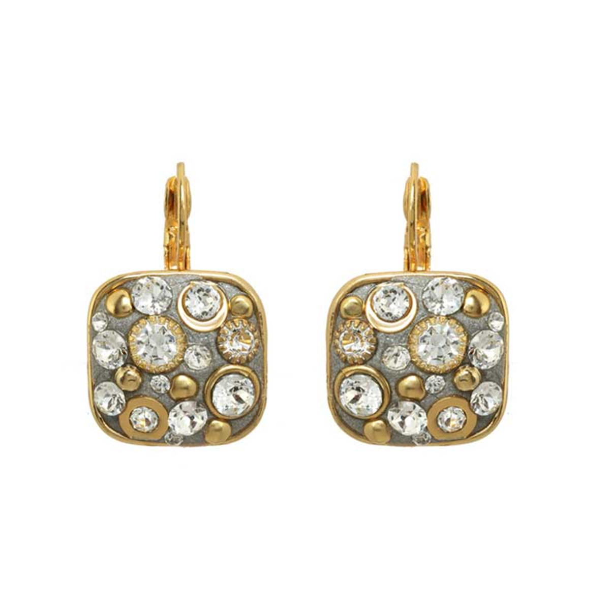 Gold Michal Golan Icicle Earrings