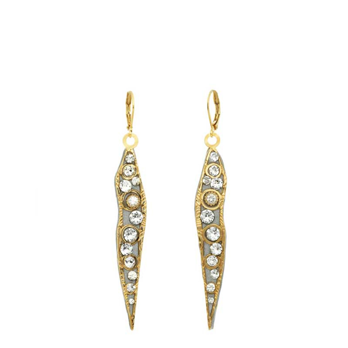 Michal Golan Jewelry Icicle Gold Earrings
