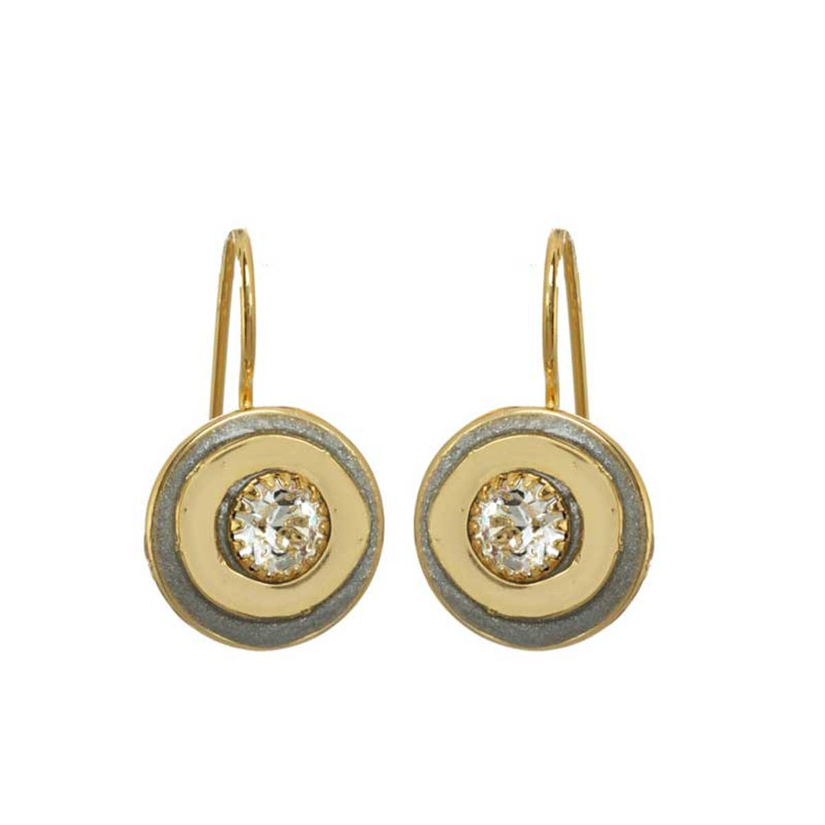 Gold Michal Golan Jewelry Icicle Style Earrings