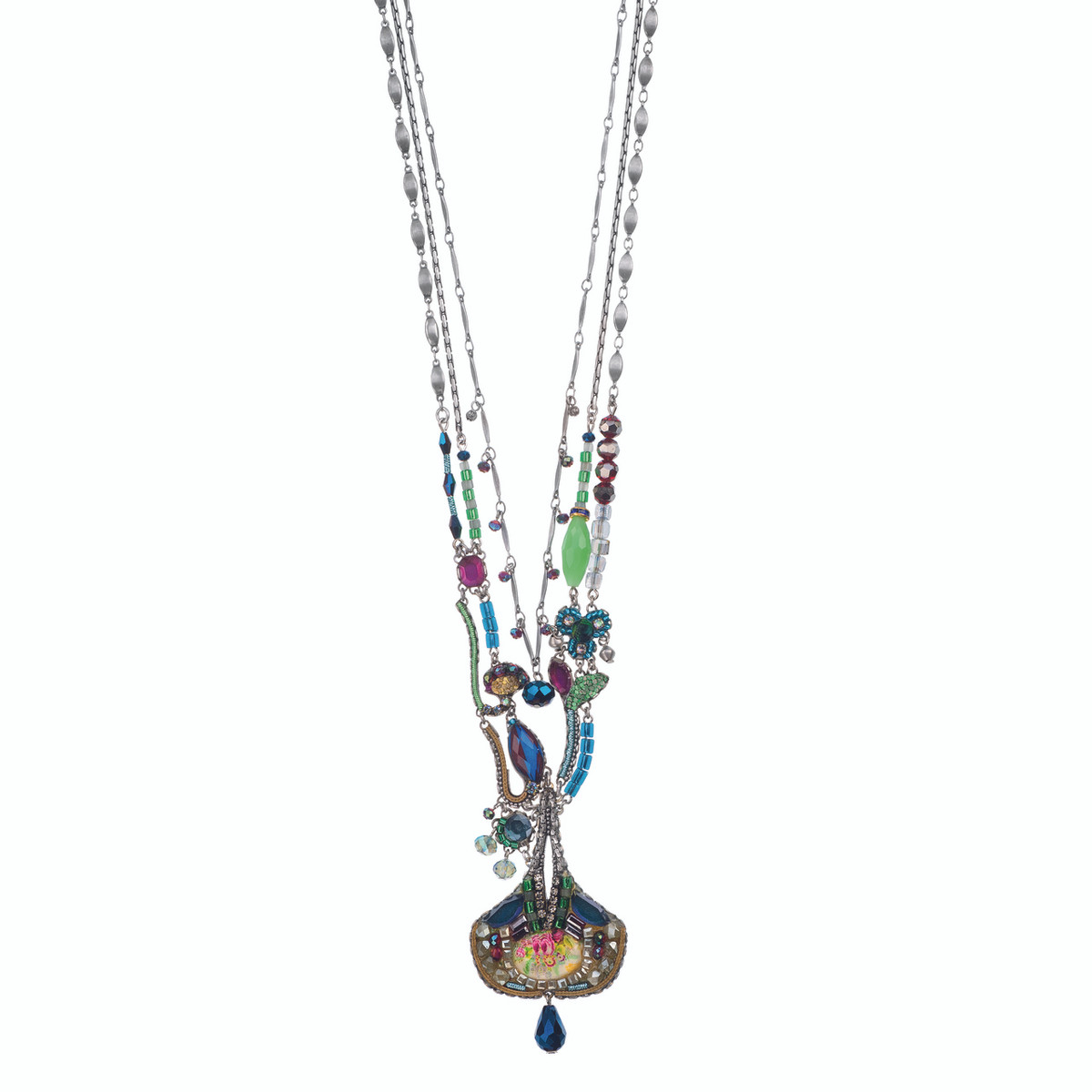 Ayala Bar Long and Layered Blue Horizon Necklace