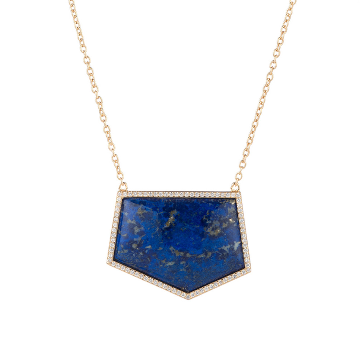 Blue Marcia Moran Jewelry Geometric Shaped Necklace