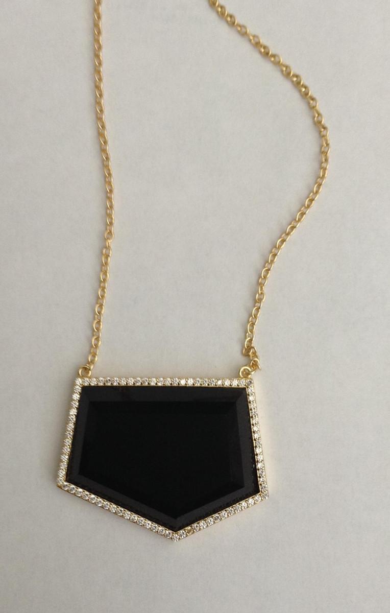 Black Marcia Moran Jewelry Geometric Shaped Style Necklace