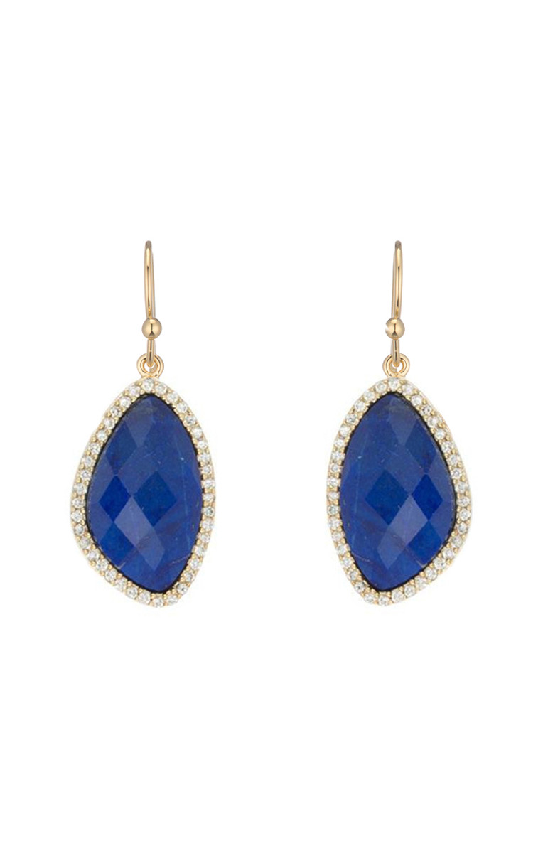 Blue Lilly earrings from Marcia Moran Jewelry