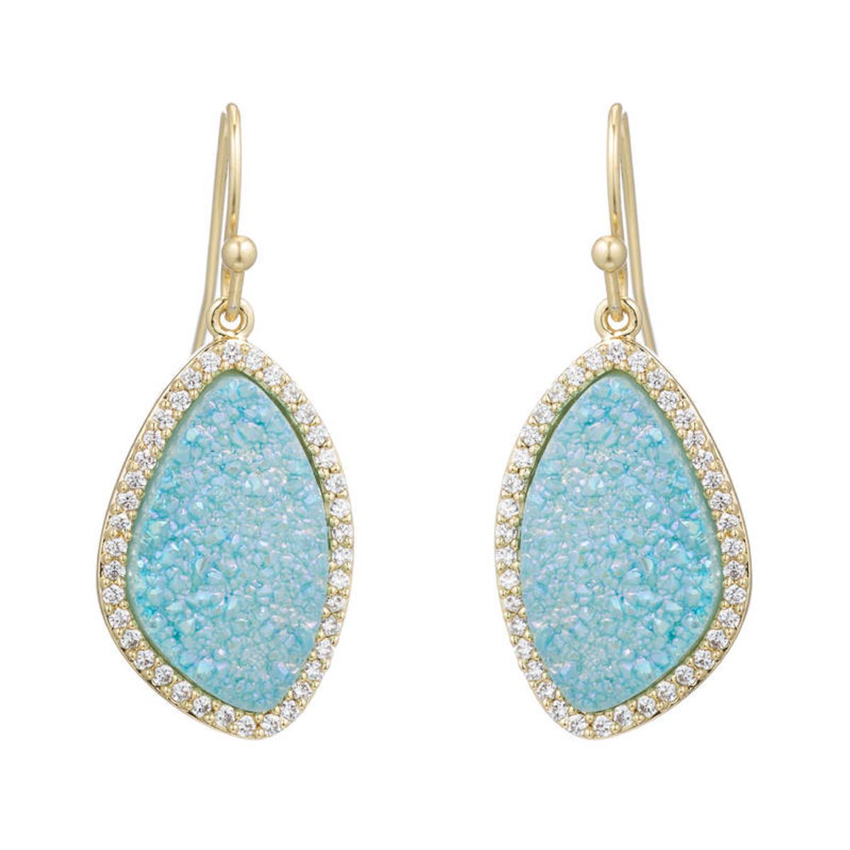 Blue Lilly earrings by Marcia Moran Jewelry