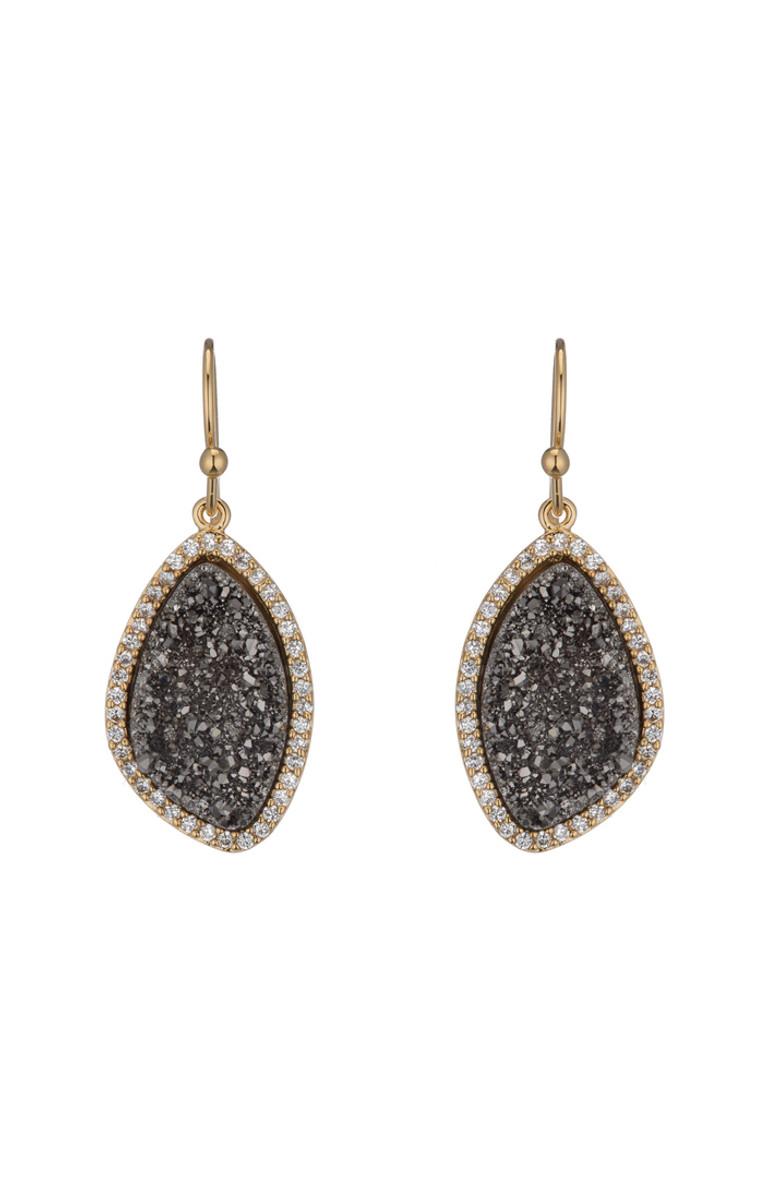 Marcia Moran Lilly Earrings Grey