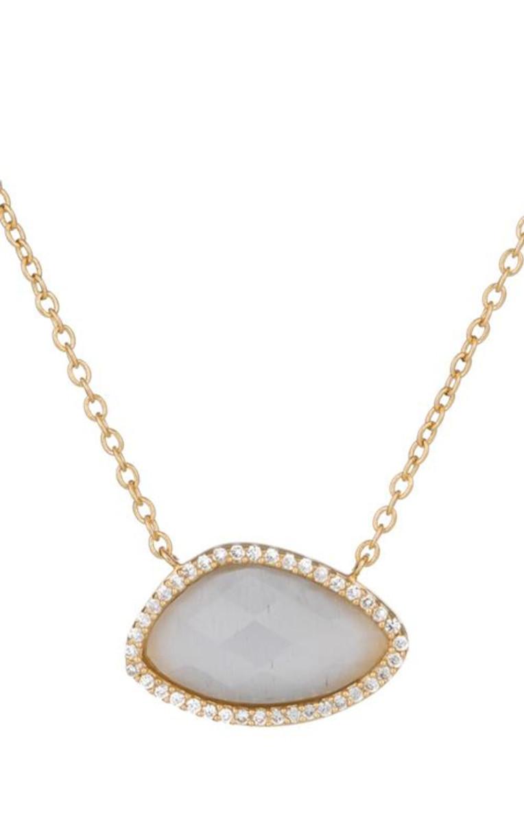 Marcia Moran Jewelry Valencia Grey Necklace