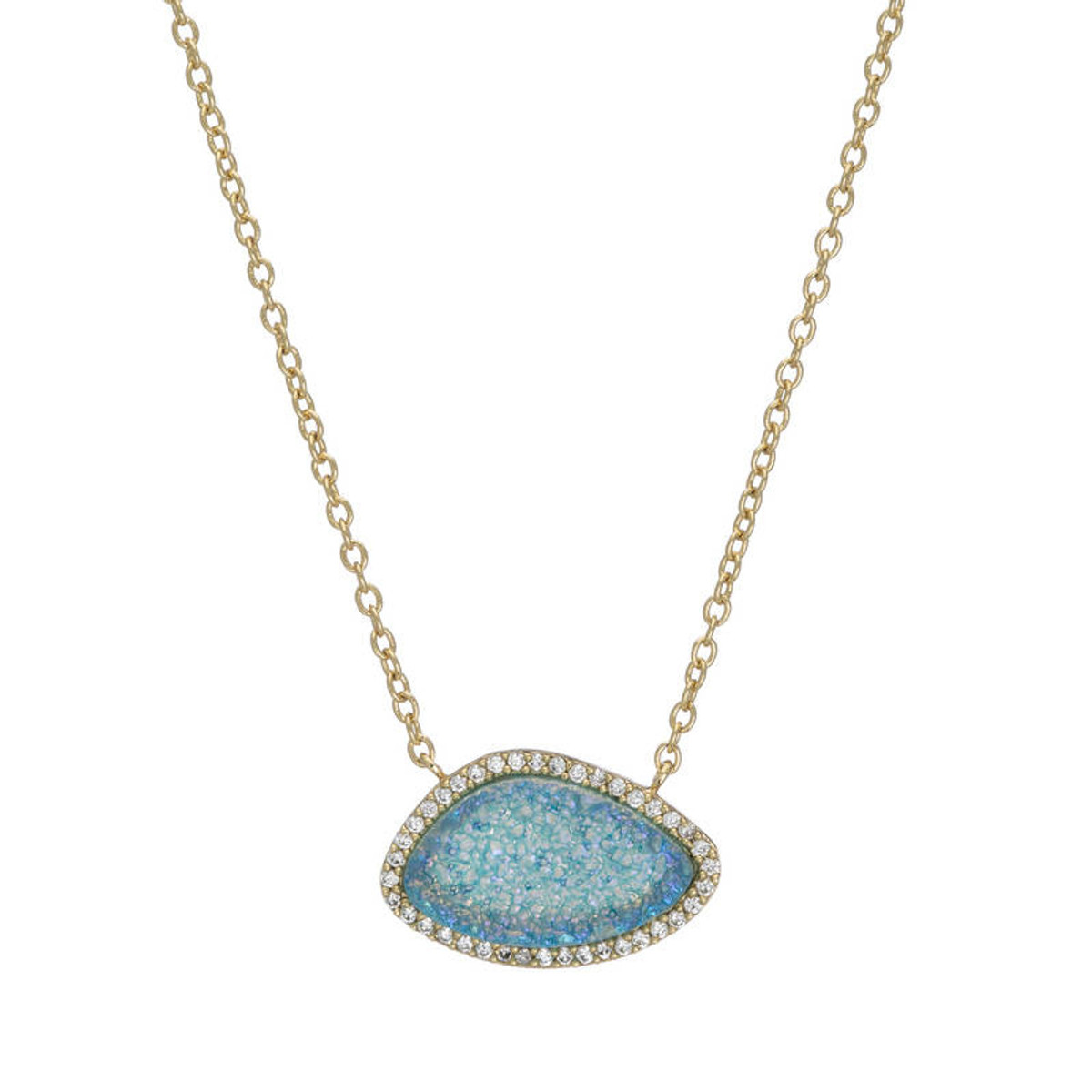 Blue Valencia style necklace by Marcia Moran Jewelry