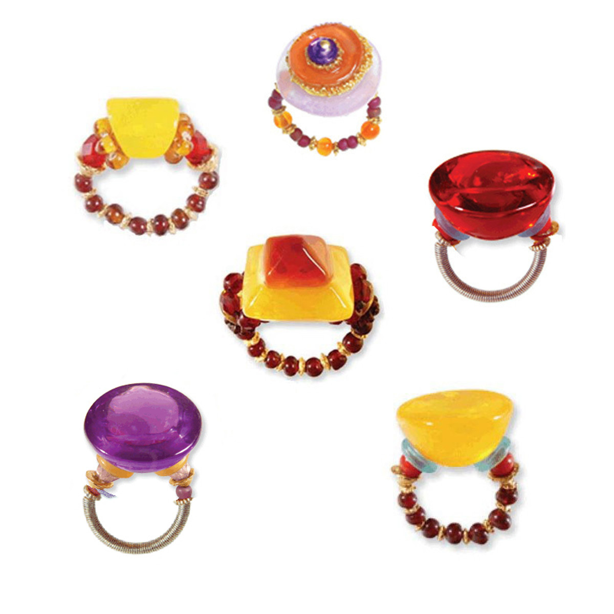 Orna Lalo Six Rings Set For Every Day Look