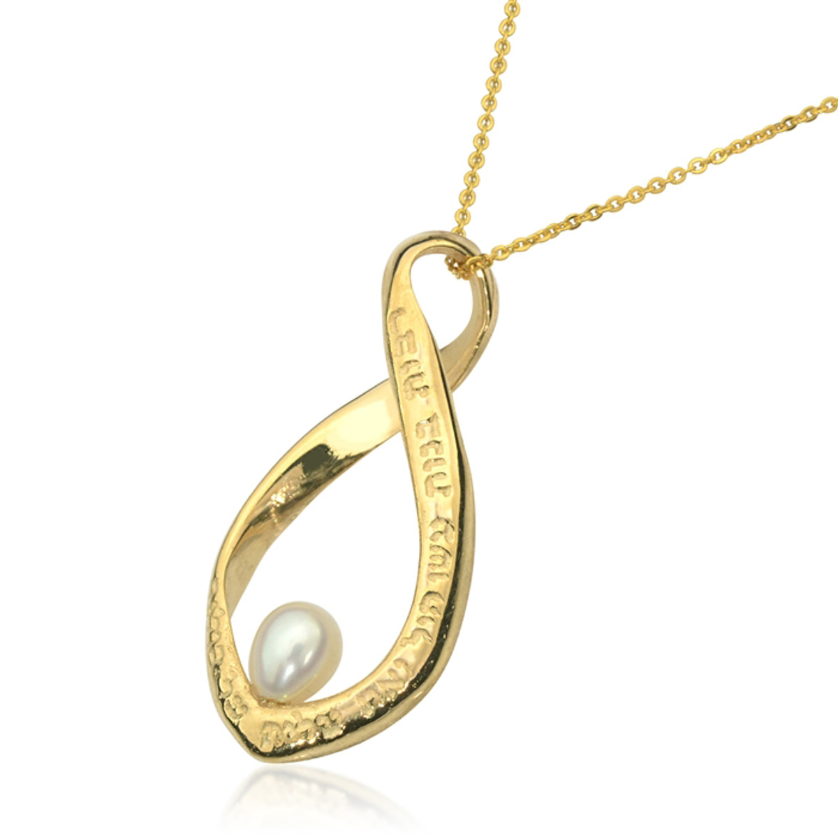 Gold Many women have done inlaid pearl pendant by Haari Kabbalah Jewelry