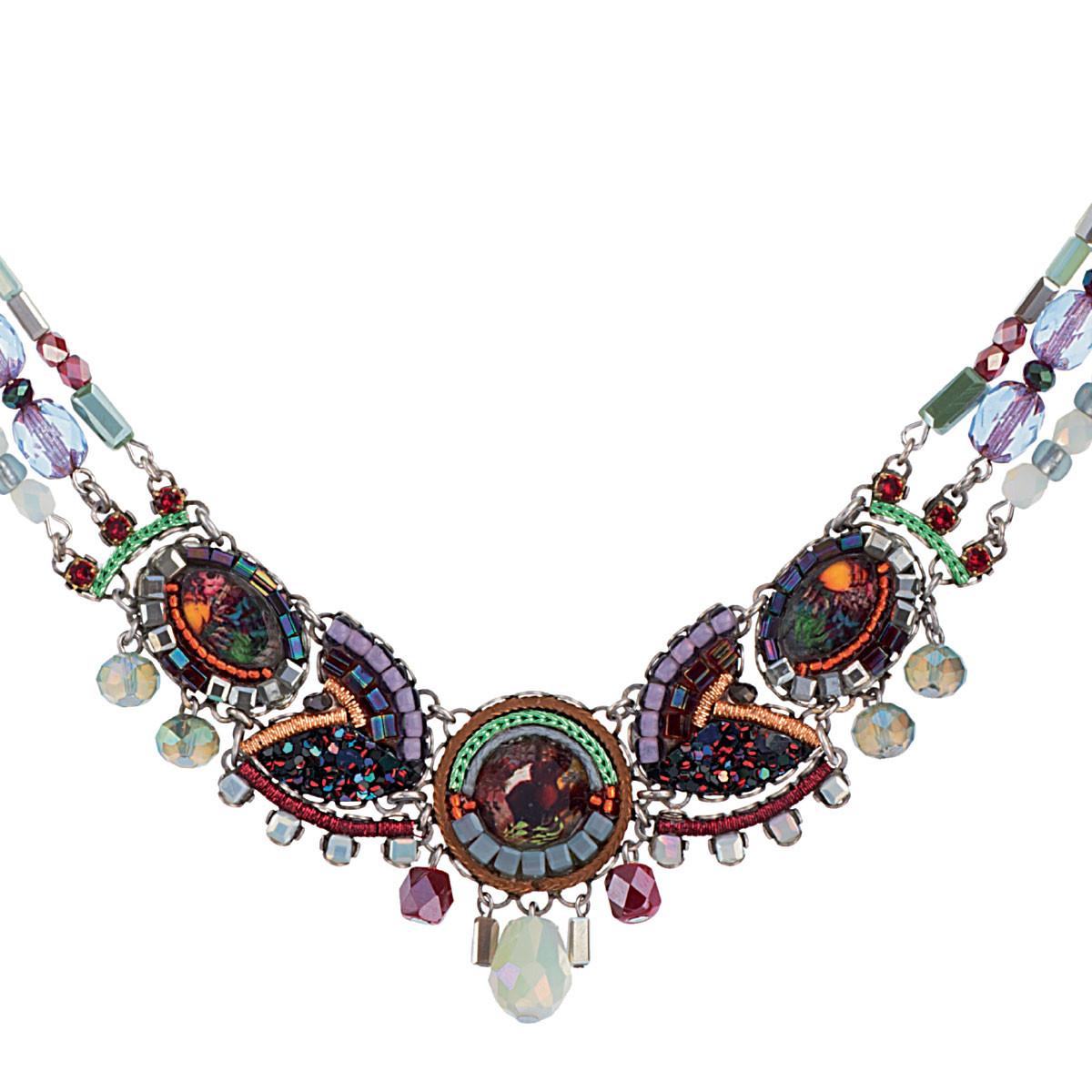 Ayala Bar Jewellery Hawthorn Purple Necklace