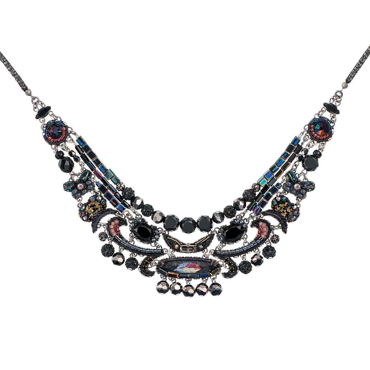 Black Ayala Bar Jewelry Blacktree Style Necklace