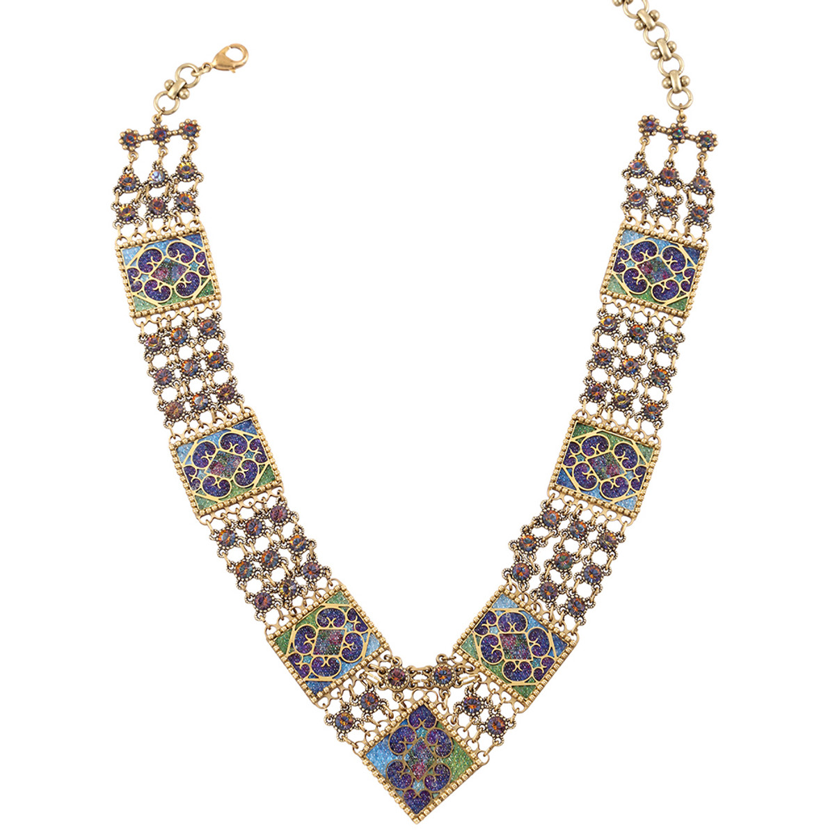 Michal Negrin Belt Necklace - Multi Color